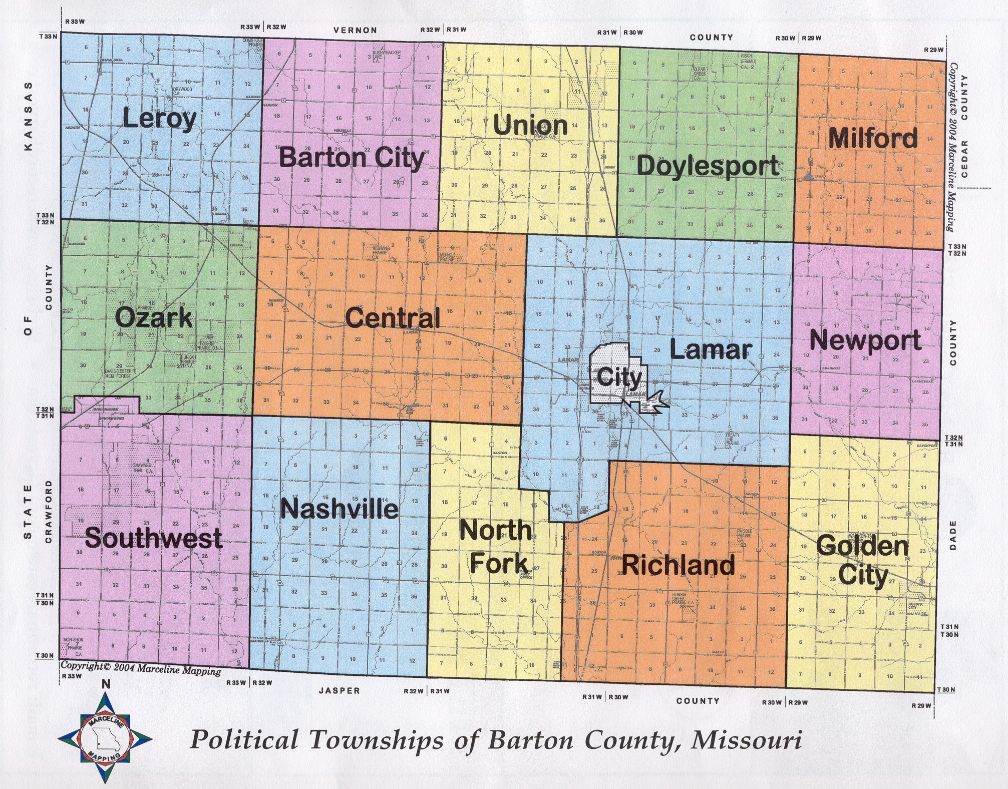 Missouri County Map - Missouri map county lines